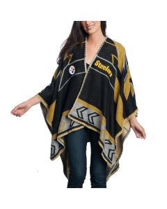 Pittsburgh Steelers Women's Whipstitch Scarf Poncho