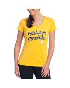 Pittsburgh Steelers '47 Women's Clutch Splitter T-Shirt