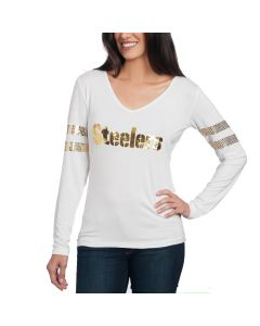 Pittsburgh Steelers Cuce Women's Sequins T-Shirt