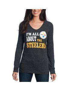 Pittsburgh Steelers Women's New Era All About The Steelers Long Sleeve T-Shirt