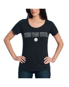 Pittsburgh Steelers Nike Women's Who You With Short Sleeve T-Shirt