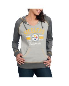 Pittsburgh Steelers Women's Majestic Buttonhook Fleece Hoodie