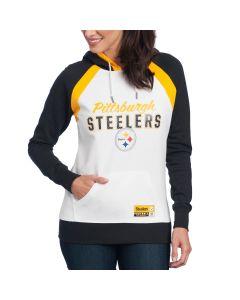 Pittsburgh Steelers Women's Majestic Pure Heritage Fleece Hoodie