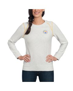 Pittsburgh Steelers Tommy Bahama Women's NFL Slub and Run Pullover Top
