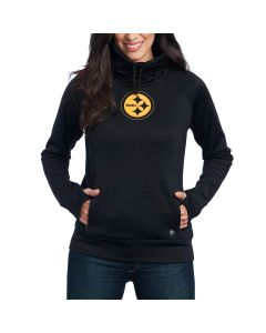 Pittsburgh Steelers '47 Women's Forward Shade Funnel Neck Fleece Hoodie