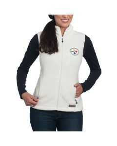 Pittsburgh Steelers Women's Vineyard Vines White Westerly Vest