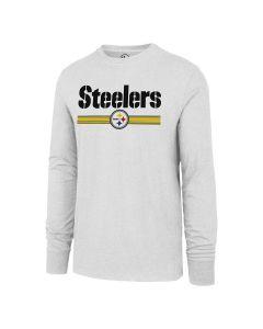 Pittsburgh Steelers '47 Club Wordmark & Team Stripe Long Sleeve T-Shirt