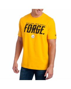 Pittsburgh Steelers Under Armour NFL Combine Short Sleeve Gold Forge T-Shirt