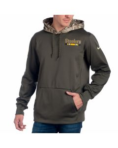 Pittsburgh Steelers Nike Salute to Service Therma Pullover Hoodie
