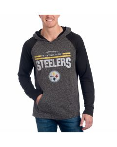 Pittsburgh Steelers Laces Out Raglan Hooded T-Shirt
