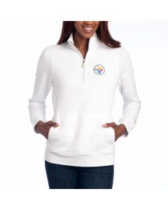 Pittsburgh Steelers Women's Tommy Bahama NFL Gridiron 1/2 Zip Top
