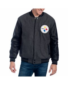 Pittsburgh Steelers Wool & Leather Reversible Jacket