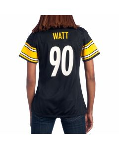 T.J. Watt #90 Women's Nike Replica Home Jersey