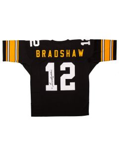 Pittsburgh Steelers #12 Terry Bradshaw Autographed Mitchell & Ness Authentic Jersey