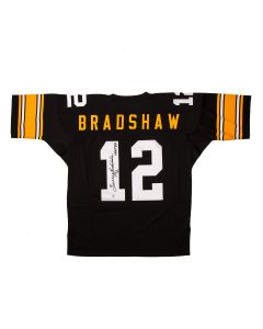 Pittsburgh Steelers #12 Terry Bradshaw Autographed Mitchell & Ness Authentic Jersey with Inscription