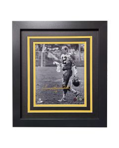 """Pittsburgh Steelers #12 Terry Bradshaw """"Muddy"""" Signed Framed 8x10 Photo"""