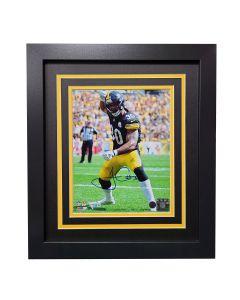 "Pittsburgh Steelers #30 James Conner ""Celebration"" Signed Framed 8x10 Photo"