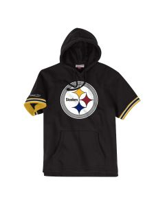 Pittsburgh Steelers Mitchell & Ness French Terry Short Sleeve Fleece Hoodie