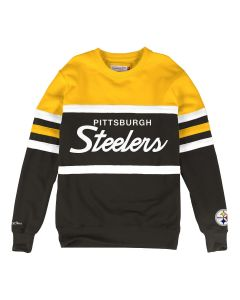 Pittsburgh Steelers Mitchell & Ness Head Coach Fleece Crew