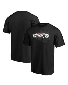 Pittsburgh Steelers Men's Big & Tall Geo Drift Iconic Short Sleeve T-Shirt