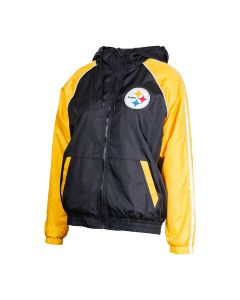 Pittsburgh Steelers Women's Apex MWT Hooded Windbreaker