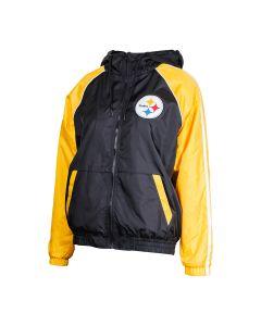 Pittsburgh Steelers Women's Apex MWT Hooded Windbreaker