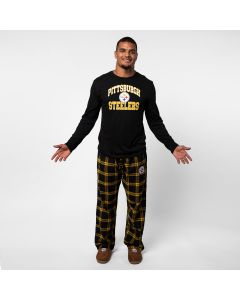 Pittsburgh Steelers Men's Troupe Long Sleeve Sleep Set