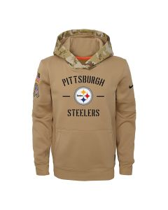 Pittsburgh Steelers Youth Nike Therma Salute to Service Hoodie