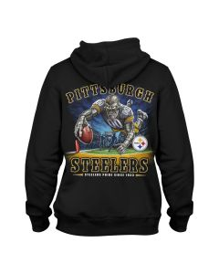Pittsburgh Steelers End Zone Black Hoodie