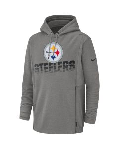 Pittsburgh Steelers Nike Heavyweight Grey Therma Hoodie