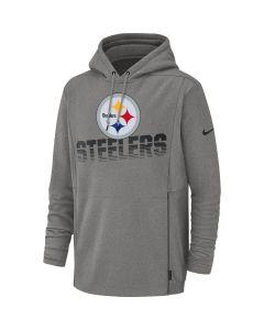 Pittsburgh Steelers Nike Heavyweight Grey Therma Hoodie