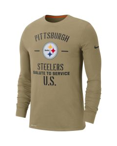 Pittsburgh Steelers Men's Nike Salute to Service Long Sleeve T-Shirt