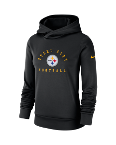 Pittsburgh Steelers Women's Nike Local Therma Black Hoodie