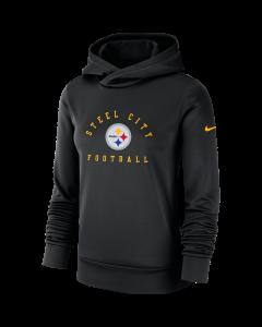 Pittsburgh Steelers Women's Nike Local Therma Black Hoodie