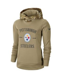 Pittsburgh Steelers Women's Nike Salute to Service Therma Hoodie
