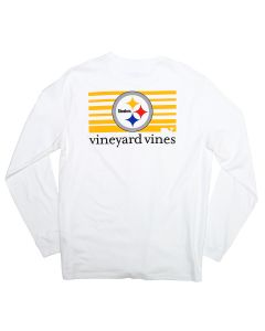 Pittsburgh Steelers Vineyard Vines Block Stripe Long Sleeve T-Shirt