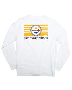 Pittsburgh Steelers Vineyard Vines Block Stripe Long Sleeve T-Shirt