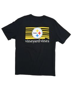 Pittsburgh Steelers Vineyard Vines Block Stripe Short Sleeve T-Shirt