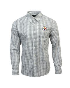 Pittsburgh Steelers Antigua Structure Long Sleeve Woven Shirt
