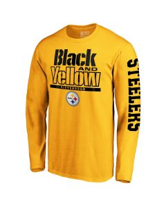 Pittsburgh Steelers Men's Long Sleeve Black & Yellow T-Shirt