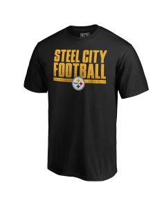 Pittsburgh Steelers Men's Steel City Football Short Sleeve T-Shirt