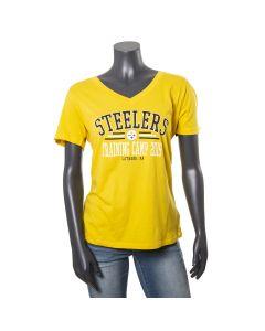 Pittsburgh Steelers Women's 2019 Training Camp Short Sleeve Gold T-Shirt
