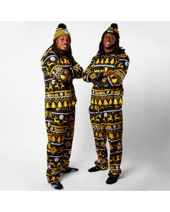 Pittsburgh Steelers Wordmark Crew Neck Pajama Set