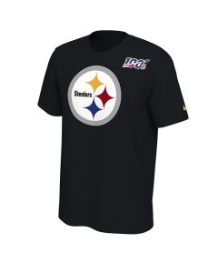 Pittsburgh Steelers Men's Nike Short Sleeve 100 Year Logo T-Shirt