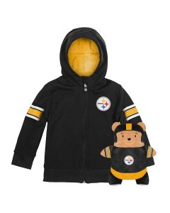 Pittsburgh Steelers 2 in 1 Cubcoats Bear and Packable Hoodie