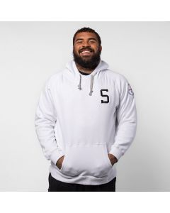 "Pittsburgh Steelers Men's ""S"" Victory Primary Fleece White Hoodie"