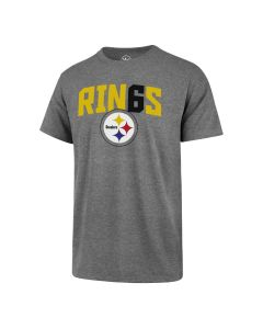 Pittsburgh Steelers '47 RIN6S Club Short Sleeve Grey T-Shirt