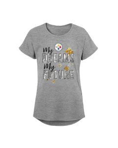 Pittsburgh Steelers Girls' My Dreams Short Sleeve T-Shirt