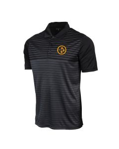 Pittsburgh Steelers Men's Antigua Relay Tonal Stripe Interlock Polo