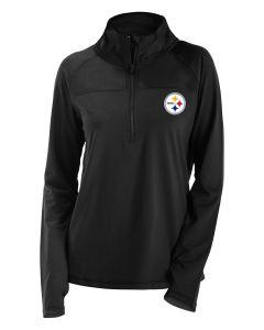 Pittsburgh Steelers Women's New Era Open Back 1/2 Zip Pullover